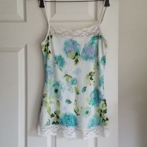 Maurices S Lacey Cami Floral Excellent Used Condit